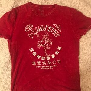 Primitive X Huy Fong Red Acid Wash Sriracha Shirt